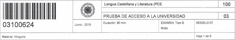 examen-pce-uned-lengua-castellana-y-literatura-2019