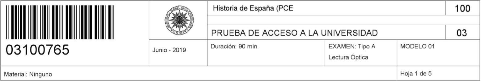 examen unedasiss pce Historia de España