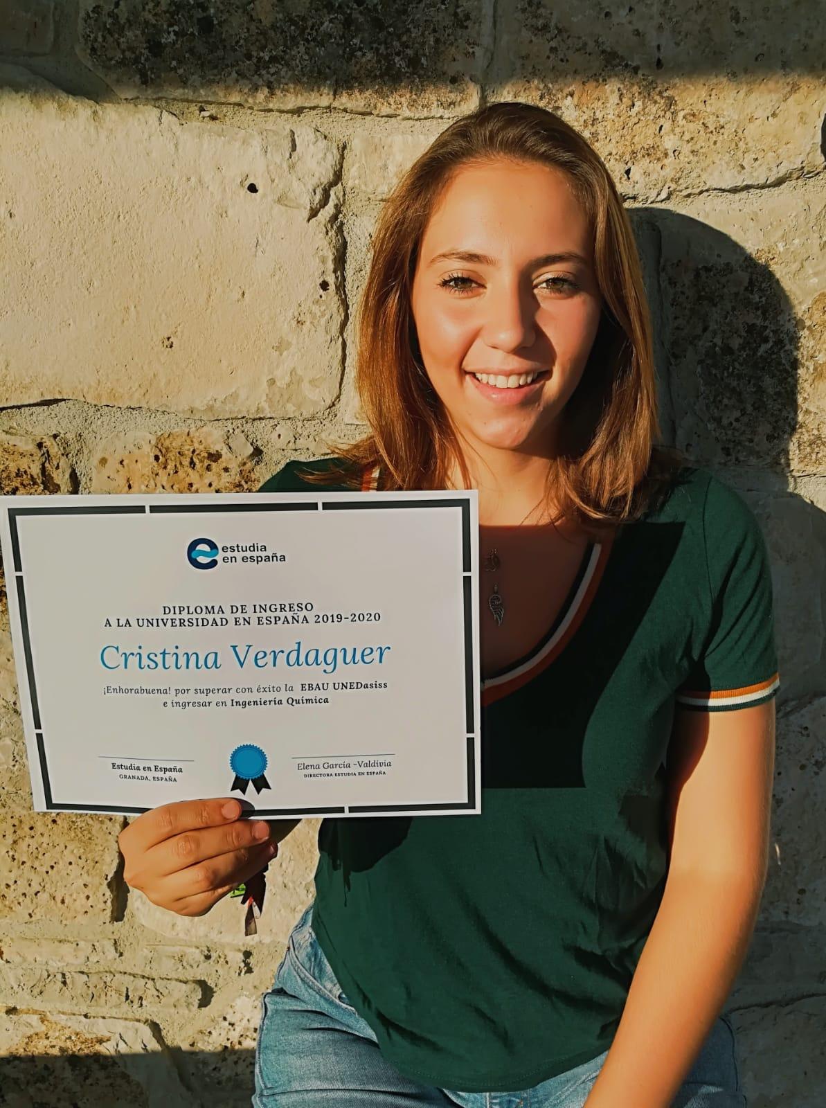 Cristina Alumna PCE UNED