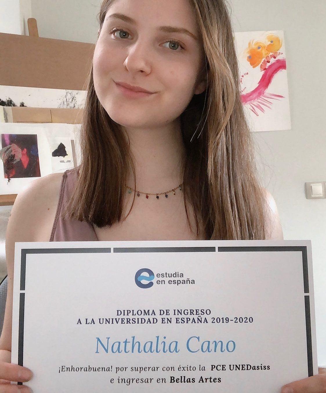 Natalia estudiante de unedasiss pce